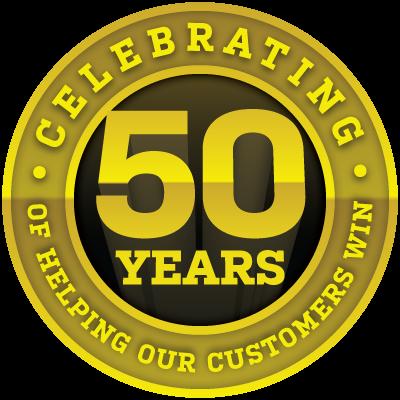 50 Years Badge Herman S Supply Company